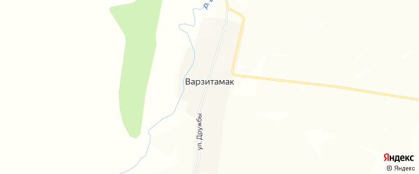 Карта деревни Варзитамака в Башкортостане с улицами и номерами домов