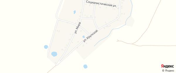 Улица Крупской на карте деревни Большесухоязово с номерами домов