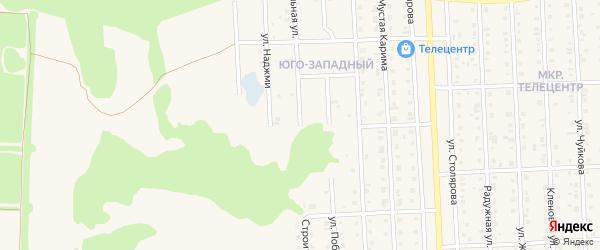 Строительная улица на карте Бирска с номерами домов