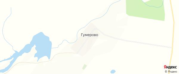 Карта деревни Гумерово в Башкортостане с улицами и номерами домов