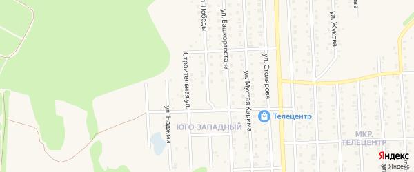 Улица Победы на карте Бирска с номерами домов