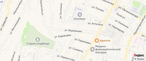 Улица Фурманова на карте Бирска с номерами домов