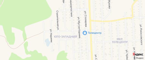 Улица Башкортостана на карте Бирска с номерами домов