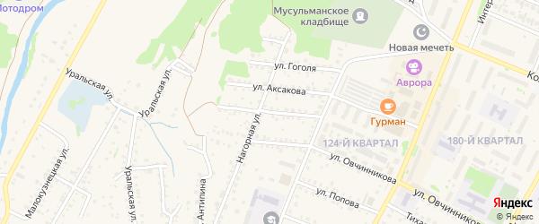 Улица Горького на карте Бирска с номерами домов