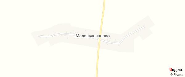 Полевая улица на карте деревни Малошукшаново с номерами домов