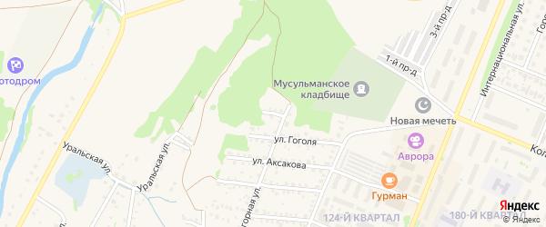 Переулок Гоголя на карте Бирска с номерами домов