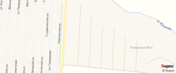 Сад Кленовый Мыс на карте Бирска с номерами домов