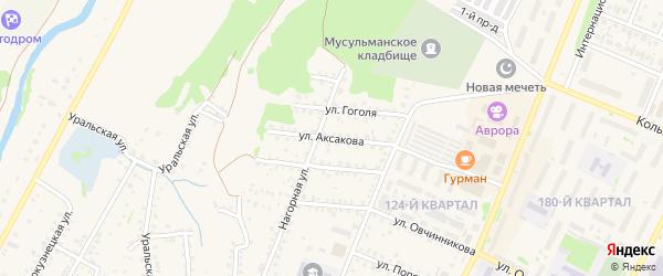 Улица Аксакова на карте Бирска с номерами домов