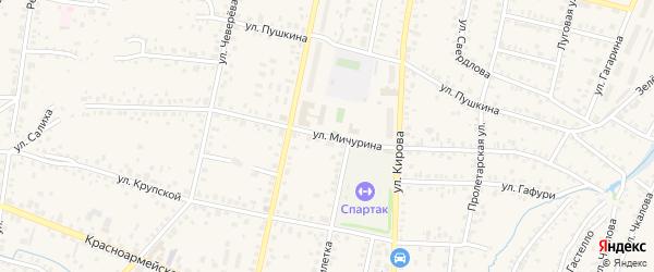 Улица Мичурина на карте Бирска с номерами домов