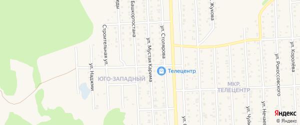 Улица Мустая Карима на карте Бирска с номерами домов