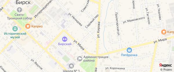 Октябрьский переулок на карте Бирска с номерами домов
