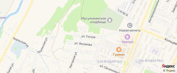 Улица Гоголя на карте Бирска с номерами домов