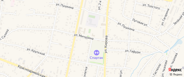 Улица 2 Пятилетка на карте Бирска с номерами домов