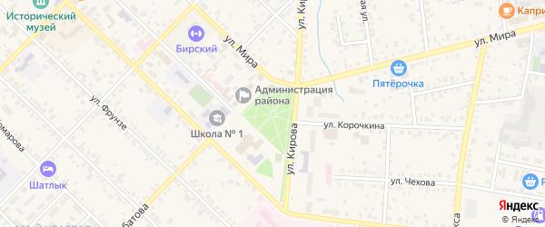 Сад Заря на карте Бирска с номерами домов