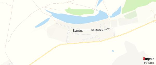 Карта села Канлы в Башкортостане с улицами и номерами домов