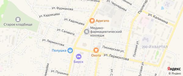 Улица Салавата на карте Бирска с номерами домов