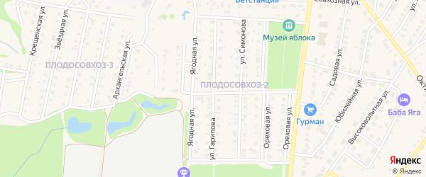 Улица Гарипова на карте Бирска с номерами домов
