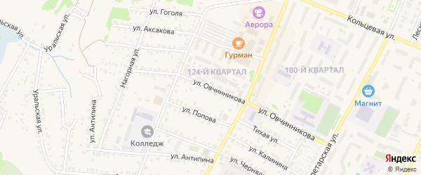Улица Овчинникова на карте Бирска с номерами домов