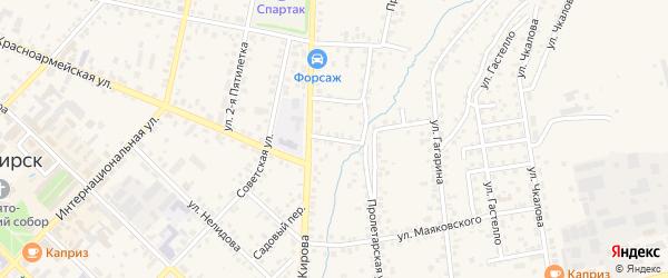 Красноармейский переулок на карте Бирска с номерами домов
