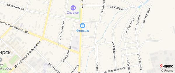 Больничный переулок на карте Бирска с номерами домов