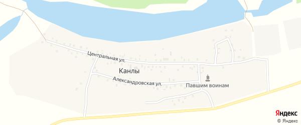 Центральная улица на карте села Канлы с номерами домов