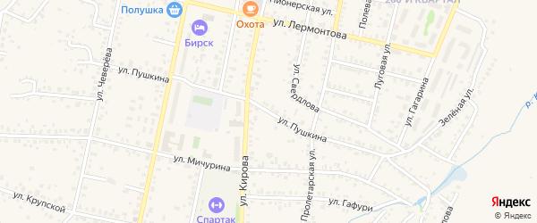 Улица Пушкина на карте Бирска с номерами домов