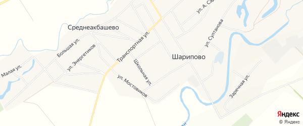 СТ Якорь на карте села Шарипово с номерами домов
