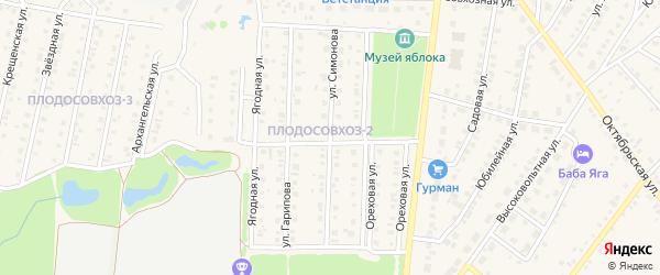Улица Симонова на карте Бирска с номерами домов