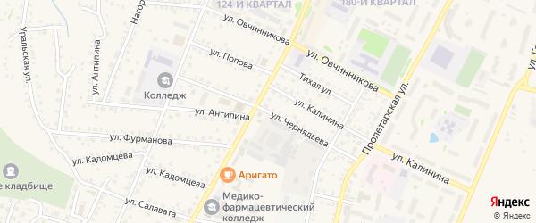Улица Чернядьева на карте Бирска с номерами домов