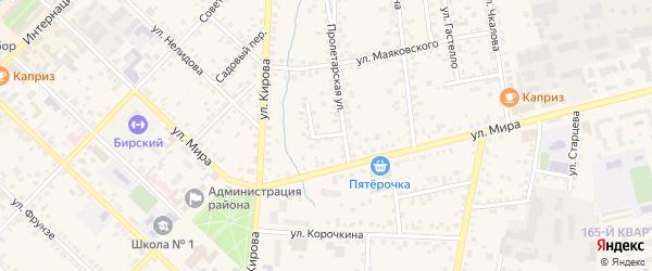 Переулок Некрасова на карте Бирска с номерами домов