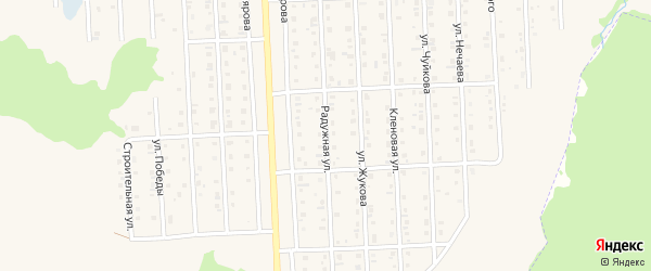 Радужная улица на карте Бирска с номерами домов