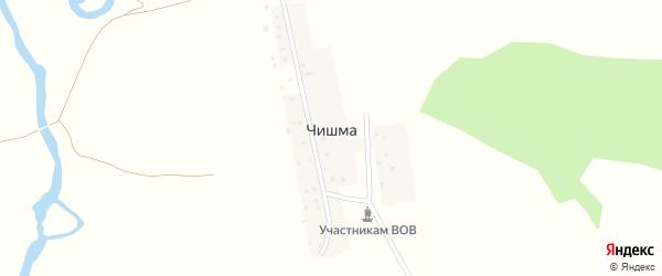 Школьная улица на карте деревни Чишмы с номерами домов