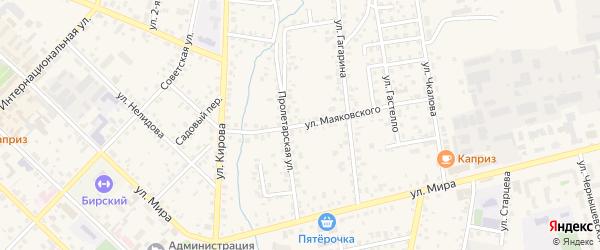 Улица Маяковского на карте Бирска с номерами домов