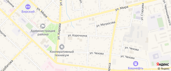 Улица Корочкина на карте Бирска с номерами домов