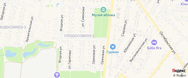 Ореховая улица на карте Бирска с номерами домов