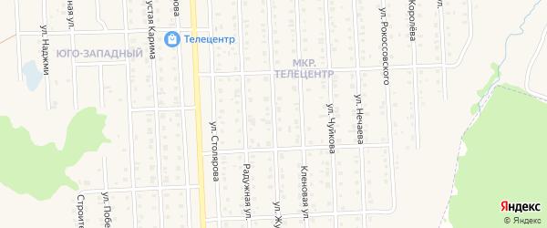 Улица Жукова на карте Бирска с номерами домов