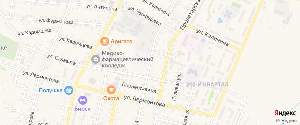 Улица Свердлова на карте Бирска с номерами домов