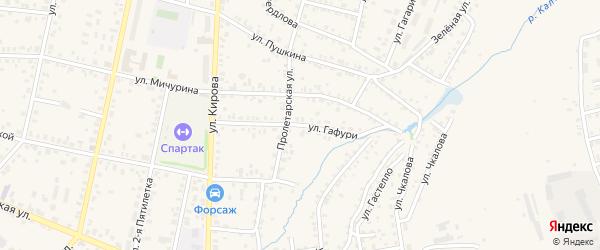 Улица Гафури на карте Бирска с номерами домов