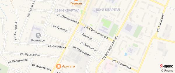 Тихая улица на карте Бирска с номерами домов