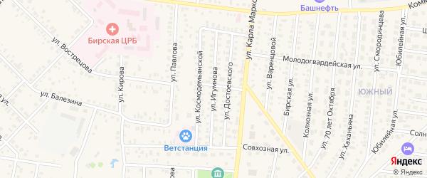 Улица Игумнова на карте Бирска с номерами домов