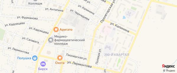 Улица Тургенева на карте Бирска с номерами домов