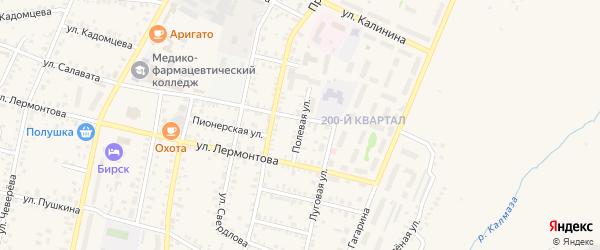 Полевая улица на карте Бирска с номерами домов