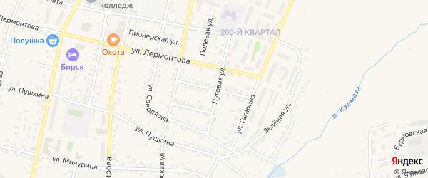 Улица Толстого на карте Бирска с номерами домов