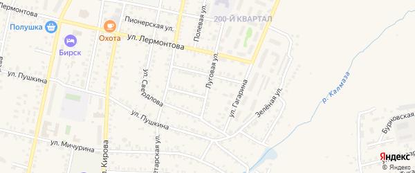 Луговая улица на карте села Старицино с номерами домов