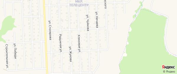 Улица Чуйкова на карте Бирска с номерами домов