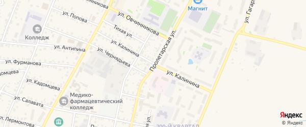 Улица Калинина на карте Бирска с номерами домов