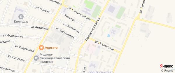 Улица Калинина на карте села Старицино с номерами домов
