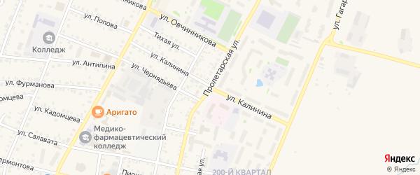 Пролетарская улица на карте Бирска с номерами домов