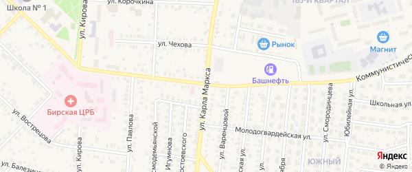 Улица Карла Маркса на карте Бирска с номерами домов