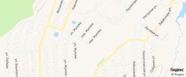 Переулок Жукова на карте Бирска с номерами домов